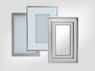 粗/細鋁框玻璃門