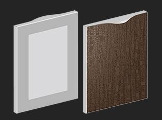 鏡面 A/U/E 型鋁框門