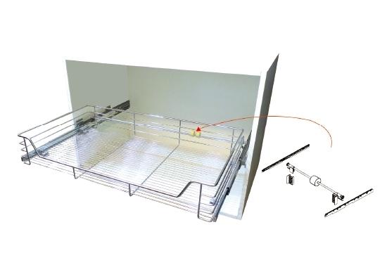 ST大拉籃/#304 ST緩衝鋼珠滑軌(同步齒條組)
