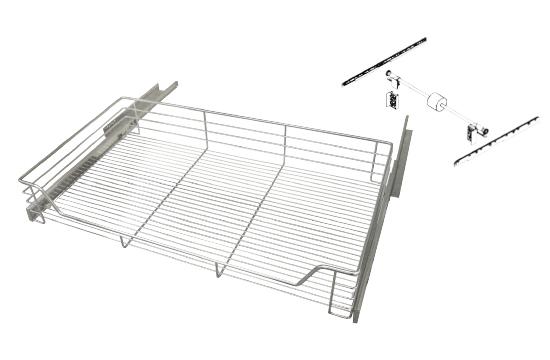 ST大拉籃/緩衝鋼珠滑軌(同步齒條組)