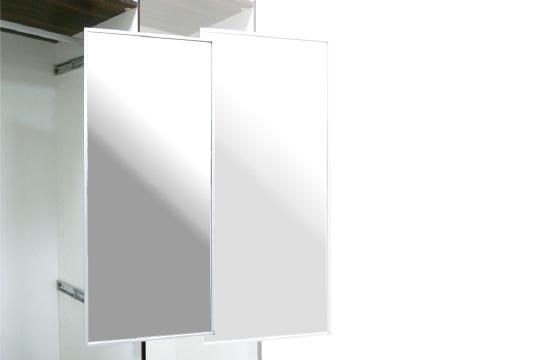 旋轉日式鋁框穿衣鏡