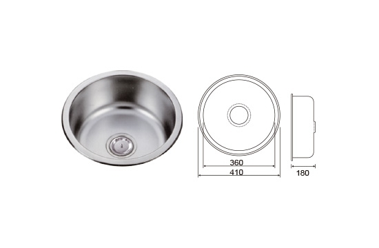 ST圓型水槽-毛絲面