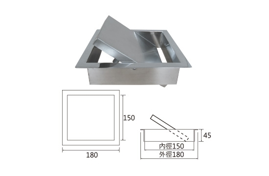ST方型環保投遞口/蓋360度旋轉