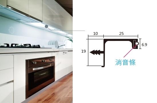上櫃用鋁橫板條-A型