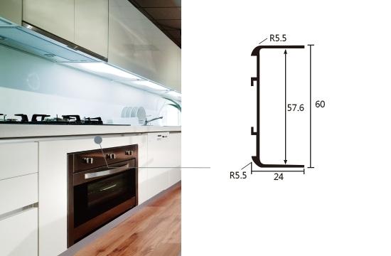 下櫃用C6型鋁橫板條