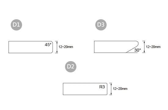 前緣造型-D 單層板邊型