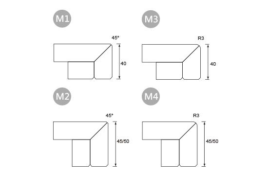 前緣造型-M 直邊邊型