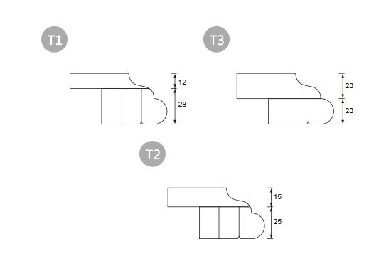 前緣造型-T 古典邊型