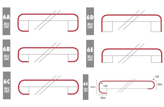 6型檯面飾板造型