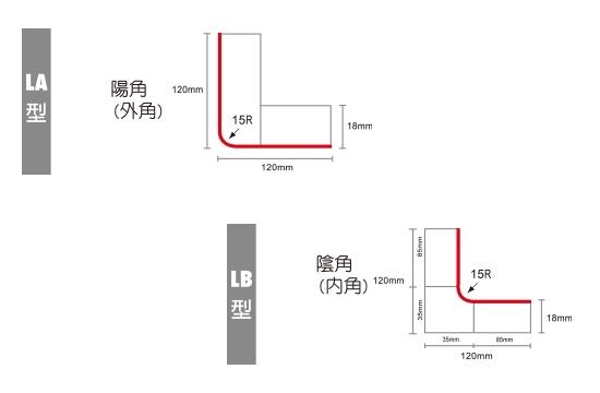 L型陰角陽角飾板造型