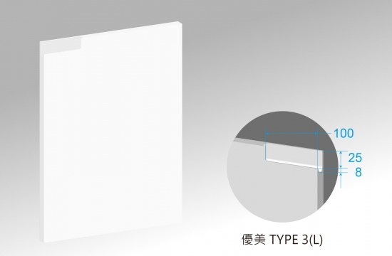U優美造型S6賽諾森門板-TYPE3(L)