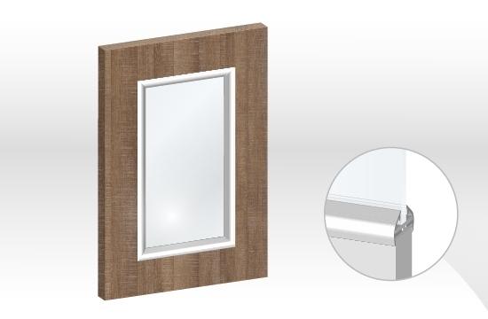 德國板框型鋁邊玻璃門板