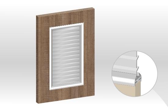 德國板框型鋁邊百葉門板