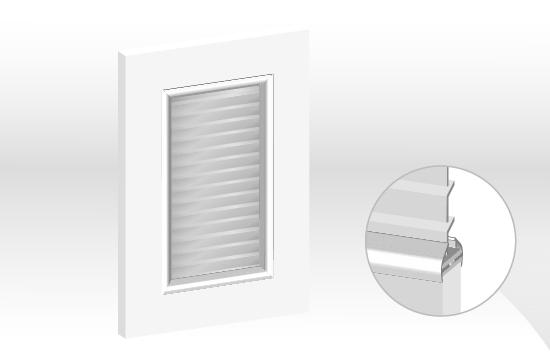 結晶鋼烤框型鋁邊百葉門板