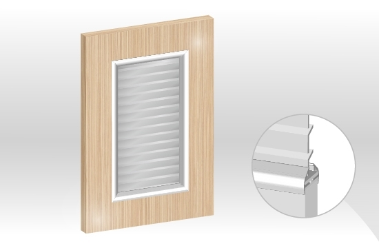 水晶板框型鋁邊百葉門板