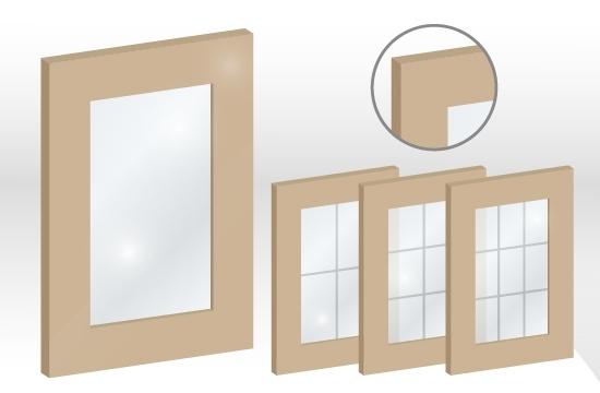 結晶鋼烤框型玻璃門板