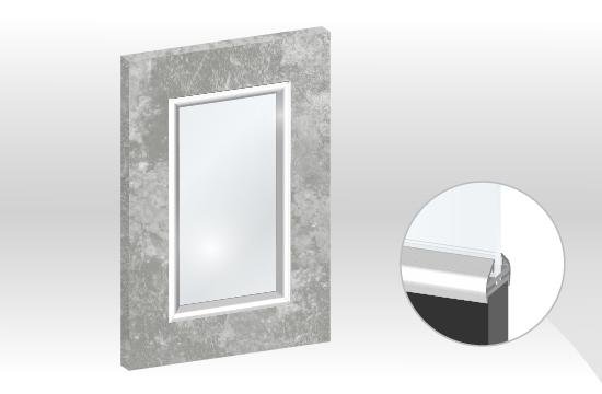 C6卡多麗框型鋁邊玻璃門板