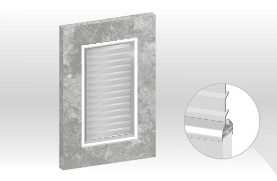 C6卡多麗框型鋁邊百葉門板