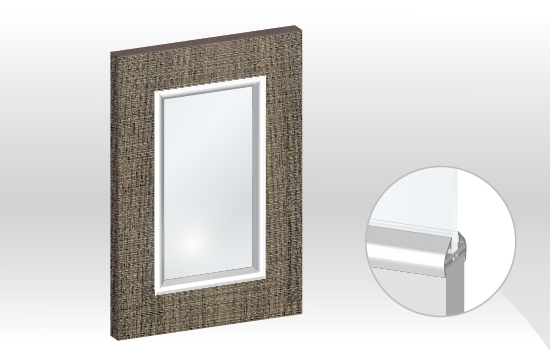 AICA框型鋁邊玻璃門板