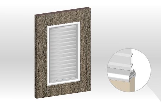 AICA框型鋁邊百葉門板