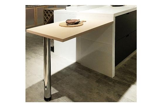 桌腳Ø76.2-鉻色