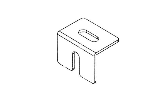 薄抽門板固定片