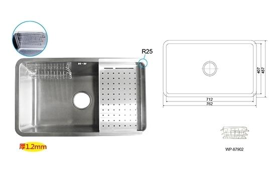 WP-87208AL四方槽-毛絲面(無滴水盤)