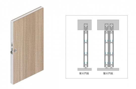 H4 歐式鋁框緩衝懸吊門A