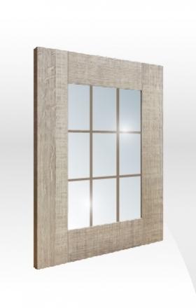 拼框玻璃門板 背-井字飾條