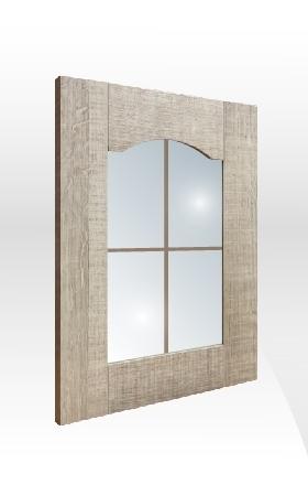 拼框玻璃門板 背-十字飾條