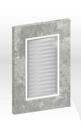 GN框型鋁邊百葉門板