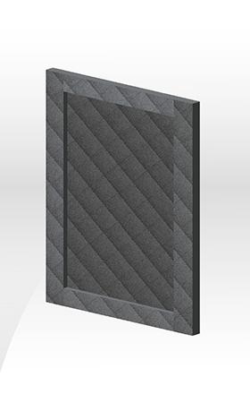 波爾多框型門板-深灰皮紋